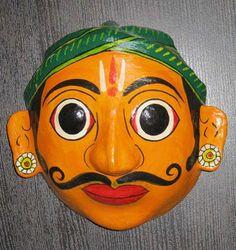 paper mache mask from andhra pradesh