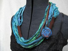 Sari Silk Ribbon Eternity Scarf by TierraSol on Etsy, $34.00