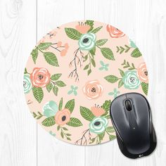 Dont know about you - but I love details like cute mousepads to make my workspace fun!  This floral mousepad is 8 inches wide, features a stain resistant polyester fabric top, and a rubber non stick back.  Every mousepad is handmade in my studio with care and attention to detail.  Visit here for more mouse pads from my shop: https://www.etsy.com/shop/fieldtrip/search?search_query=mouse+pad