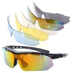 XQ-XQ UV400 Polarisierte Sportbrille Schwarz: Amazon.de: Sport & Freizeit