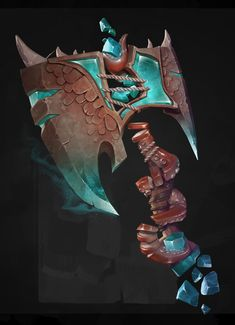 On the same row than Fisherman's sword ! Character Concept, Character Art, Character Design, Prop Design, Game Design, Escudo Viking, Game Props, Modelos 3d, Weapon Concept Art