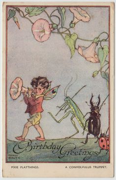 Molly Brett - (1902-1990) Pixie Playthings postcard series 2027 published by Faulkner c1938