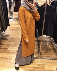 Modest Fashion Hijab, Modern Hijab Fashion, Street Hijab Fashion, Casual Hijab Outfit, Hijab Fashion Inspiration, Muslim Fashion, Fashion Outfits, Mode Abaya, Outfit Look
