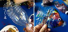 Pez de colores hecho con botellas de plástico Preschool Classroom, Ocean Art, Diy Garden Decor, Plastic Bottles, Arts And Crafts, Fish, Play, Animals, Recherche Google