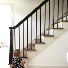 We finally have a stair railing!