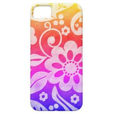 Pink Purple Yellow Floral iPhone 5 Case