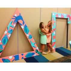 Love these letters #lilly #lillyprint #shells #nautical #craft #sorority