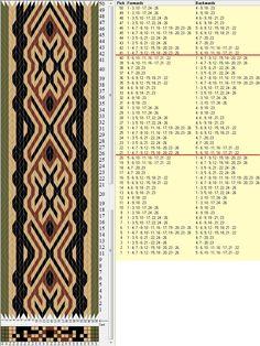 26 tarjetas, 4 colores, repite cada 20 movimientos // sed_506 diseñado en GTT༺❁