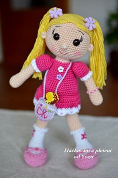 PATTERN  Doll with Pigtails  crochet pattern by CrochetfromYvett