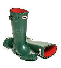 Warm Neoprene Lined Children's Hunter Boots in Green - Boys & Girls sizes UK EU Reflective safety patch on heel and rear top. Hunter Wellington Boots, Girls Sizes, Wellies Boots, Hunter Green, Hunter Boots, Orchid, Rubber Rain Boots, Boy Or Girl, Safety
