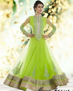 Indian bridal wear salwar kameez are the mixture of traditional touch that just gives awesome feel. Bridal shalwar kameez 2015 are designed for chic girls Indian Anarkali, Anarkali Dress, Pakistani Dresses, Indian Dresses, Indian Outfits, Anarkali Suits, Long Anarkali, Frock Design, Bridal Mehndi Dresses