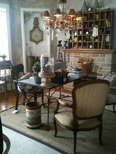 lovely home office- savycityfarmer blog- where women create- great office