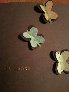 My version of Diane Livingston's butterflies card