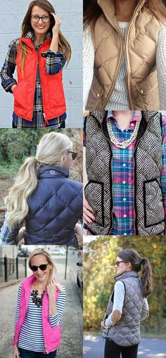 Winter Fashion Inspiration. Vests.