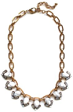 Marble Teardrop Collar Necklace