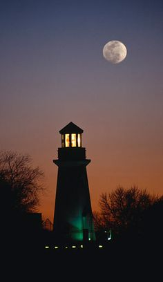 Lighthouse and the moon...
