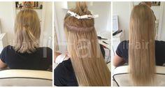 50 cm-es hajhosszabbítás keratinos hőillesztéses technikával 9.1-es világosszőke színű hajfesték alkalmazásával Techno, Dreadlocks, Hair Styles, Beauty, Hair Plait Styles, Hairdos, Haircut Styles, Dreads, Hairstyles
