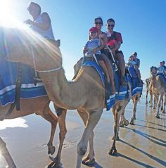 An unforgettable experience, Cable Beach camel ride.   http://togetherweroam.com/camel-rides-cable-beach-kids-broome/