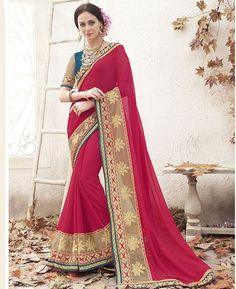 Buy Amazing Red Designer Sarees online at  https://www.a1designerwear.com/amazing-red-designer-sarees  Price: $40.76 USD