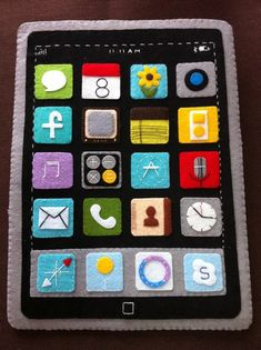Handmade iPad case that looks like... an iPad. So great.