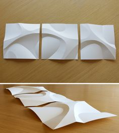 Curved Paper Folding by 000christopher http://www.instructables.com/id/Curved-Paper-Folding/