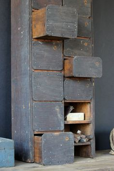 Primitive Farmhouse Cubby. $135.00, by CanalSideStudio.
