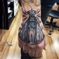nossa senhora aparecida tattoo religiosa na mão - Pesquisa Google