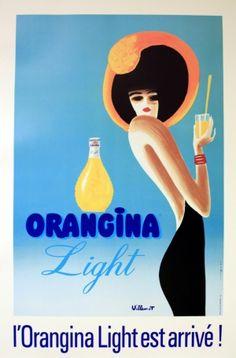 Original Vintage Posters -> Advertising Posters -> Orangina Light - AntikBar
