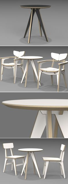 ECO ROUND TABLE  / CNC ROUTER  / 3D DESIGN / PLYWOOD FURNITURE / 유창석www.joinxstudio.com