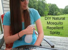 Since I started using this make your own natural mosquito repellent spray, I've hardly been bitten by any mosquitoes. It repels the mosquitoes naturally.