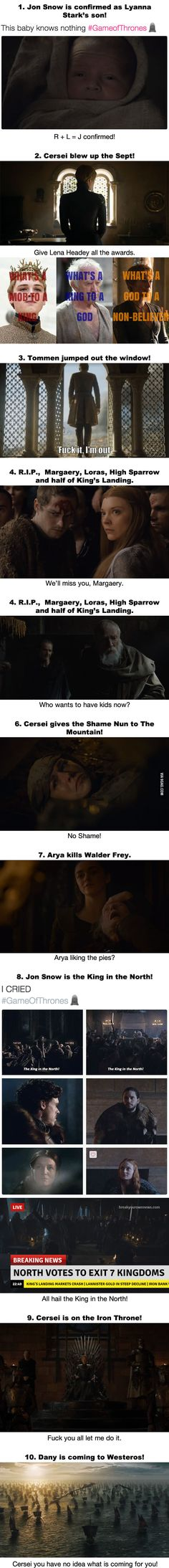 10 Most OMG Moments From The Game Of Thrones Finale *SPOILER!*