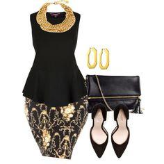 Peplum - plus size plus size fashion looks perfeitos, looks Diva Fashion, Curvy Fashion, Fashion Looks, Plus Fashion, Womens Fashion, Fashion Ideas, Trendy Plus Size, Plus Size Women, Plus Size Dresses