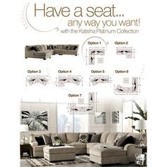 Katisha - Platinum 5-Piece Sectional Sofa with Left Chaise by Signature Design by Ashley - Beck's Furniture - Sofa Sectional