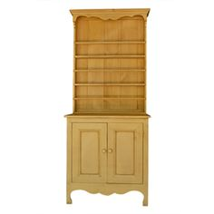 Painted yellow pine hutch