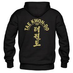 ITF Taekwondo Black Hoodie printed gold