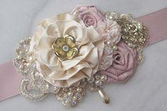 Blush rosa marco Champagne nupcial marfil y oro por TheRedMagnolia