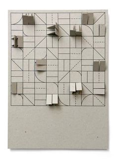 Experimental Jetset's exhibition design model for 'Game Theory' at CAFA Art Museum in Beijing