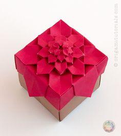 Origami Hydrangea Tessellation Box – Origami Tutorials