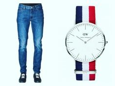 In honor of Casual Friday look hip in these trendy Cheap Monday jeans & this elegant Daniel Wellington watch! Check our website for more info.
