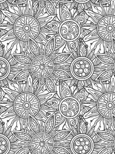 #ClippedOnIssuu from Beautiful Flowers Detailed Floral Designs Coloring Book - preview