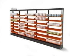 MK3 es un sistema único, que estructura sólidamente el espacio comercial.  www.mobil-m.es @mobilm #diseño #farmacia
