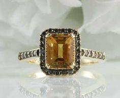 LeVian Citrine Diamond Ring