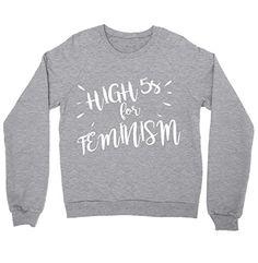 High Fives for Feminism Shirt Crewneck Sweatshirt Feminis... https://www.amazon.com/dp/B01M1V6ZRG/ref=cm_sw_r_pi_dp_x_C-gkyb26XMCF2