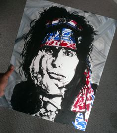 An original 16x20 Sergios fine art 4th of July 2013 portrait of the one and only Steven tyler from Aerosmith!