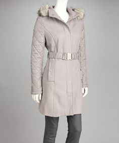 Take a look at this Vapor Quilted Wool-Blend Coat on zulily today!
