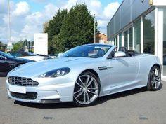Silver Aston Martin DBS V12 Volante