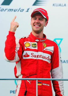 Sebastian Vettel's First Place Finger is Back!