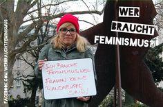 """""""Ich brauche Feminismus, weil Frauen keine Randgruppe sind!"""" (Ninia LaGrande) http://ninialagrande.blogspot.de/2012/11/wer-braucht-feminismus.html"""