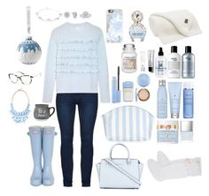 """""""Blue Christmas"""" by e-atha on Polyvore featuring philosophy, Yankee Candle, UGG, Threshold, Bobbi Brown Cosmetics, Butter London, Drybar, Catherine & Jean, Christian Dior and Marc Jacobs"""