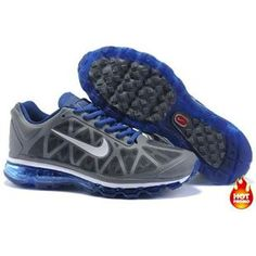 Cheap Nike Free US Size for Sale Womens Nike Air Max 2012 Deep Grey Royal Blue Shoes [nike free for sale - Nike Air Max 2011, Cheap Nike Air Max, Nike Air Max For Women, Nike Shoes Cheap, Nike Free Shoes, Mens Nike Air, Nike Men, Cheap Jordans, Cheap Sneakers